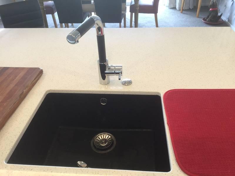 Black Ecogranite Undermounted Sink